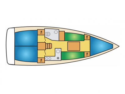 Jeanneau 349 lay-out