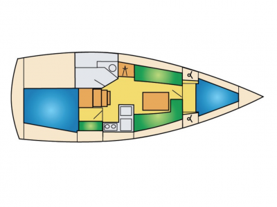 Bavaria 33 lay-out