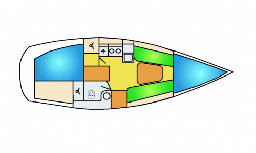 Dehler 29 lay-out