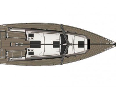 Dufour 360 GL deck plan